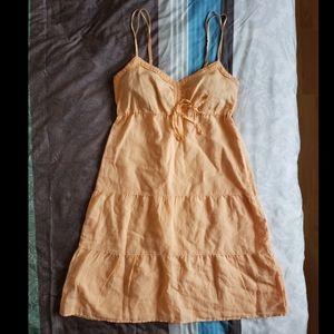 Orange Cotton Sun Dress